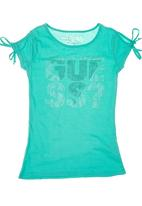 GUESS - Girls' Side-tie T-shirt Turquoise