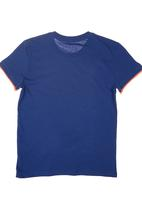 GUESS - T-shirt with Guess Branding Navy
