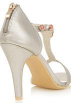 c9b6e1b17d8 Embellished Heels Silver Miss Black Heels