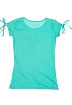 GUESS - Side-tie T-shirt Turquoise