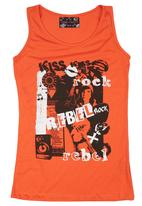 Twin Clothing. - Rebel Top Orange