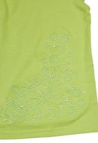 Twin Clothing. - Embroidered Girls T-shirt Light Green