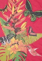 Twin Clothing. - Tropical-print Vest Dark Pink