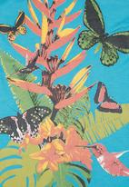 Twin Clothing. - Tropical Print Vest Turquoise
