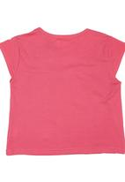 Twin Clothing. - Embroidered Girls T-shirt Dark Pink