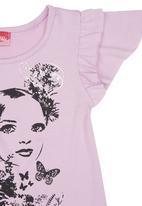 Twin Clothing. - Face-print T-shirt Pale Purple