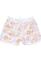 Lazkam Investment - Floral Boardshorts White