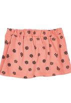 TORO CLOTHING - Girls Pleated Skirt Coral