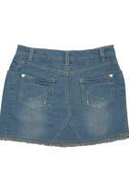 Twin Clothing. - Denim Skirt Pale Blue