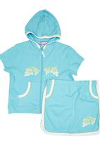 Twin Clothing. - Skirt and Hood Set Turquoise