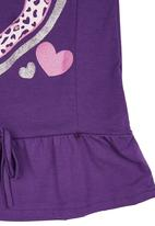 Twin Clothing. - Leopard-spot Set Dark Purple