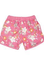 Lazkam Investment - Floral Boardshorts Mid Pink