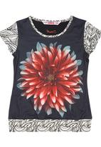 Smash - Girls Top with Floral-print Multi-colour