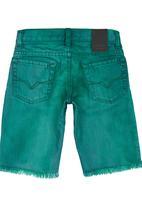 GUESS - Boys' Colour Denim Shorts Green
