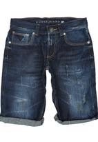 GUESS - Boys' Denim Shorts Blue