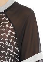 edge - Abstract-print Sporty Blouse Black/White