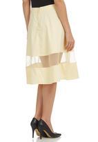 STYLE REPUBLIC - Inset Midi Skirt Yellow