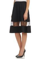 STYLE REPUBLIC - Inset Midi Skirt Black