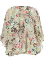 Spree Designer - printed kimono cape 2 Multi-colour