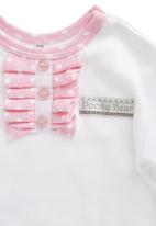 Poogy Bear - Polka Dot Frill White/Pink
