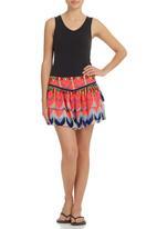 Smash - Layered Abstract Skirt Multi-colour