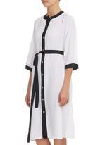 RUFF TUNG - Kimono Shirt Dress Monochrome