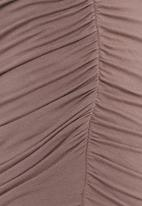 STYLE REPUBLIC - Gauged Mini Skirt Beige