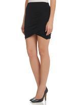 STYLE REPUBLIC - Gauged Mini Skirt Black