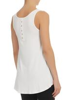 Mr & Ms - Racerback Vest with Buttons White