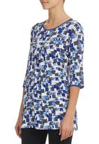 edit - Colourblock Tunic Blue/White