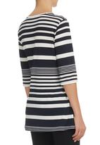 edit - Striped Tunic Top Blue/White