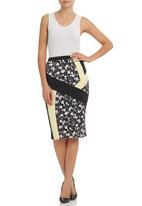 STYLE REPUBLIC - Inset Pencil Skirt Multi-colour