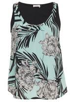 edit - Tropical-Print Cami Multi-colour