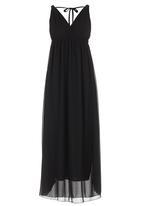 STYLE REPUBLIC - V-neck Maxi Dress Black