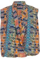 KARMA - Fold Wrap Blouse Multi-colour