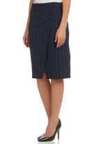 KARMA - Wrap Pencil Skirt Navy