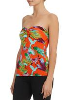 Smash - Tropical Strapless Top Multi-colour