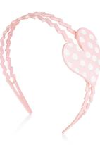 POP CANDY - Polka-dot Heart Alice Band Pink