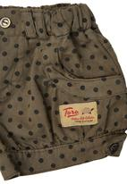 TORO CLOTHING - Spotty Baby Shorts with Cuffs Mid Brown