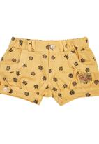 TORO CLOTHING - Spotty Baby Shorts with Cuffs Yellow