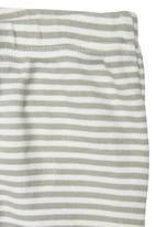 TORO CLOTHING - Striped Baby Leggings Grey