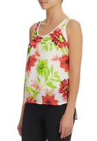edit - Floral-Print Cami Multi-colour