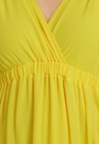 STYLE REPUBLIC - V-neck Maxi Dress Yellow