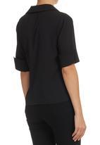 edit - Wrap Shirt Black
