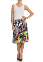 STYLE REPUBLIC - Scuba Skirt Multi-colour