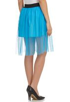 STYLE REPUBLIC - Mesh Skirt Blue