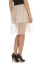 STYLE REPUBLIC - Mesh Skirt Beige