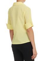 edit - Wrap Shirt Yellow