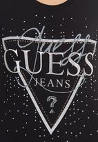 GUESS - Guess Traingle T-shirt Black