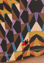 Paramita - Abstract Mini Skirt Multi-colour